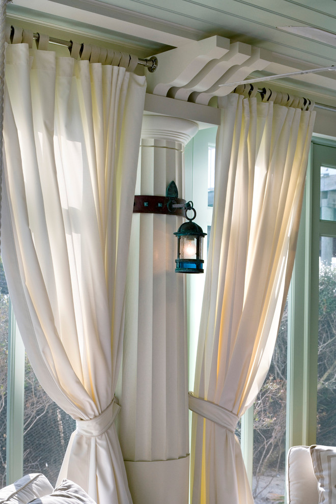 Curtain Rod Brackets Spaces Beach with None