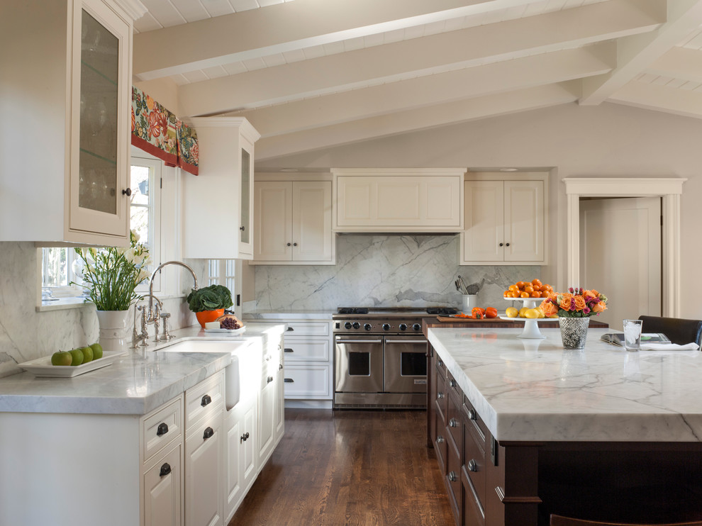 Curtain Valances Kitchen Traditional with Ann Lowengart Interiors Annie Lowengart David Duncan Livingston Island Kitchen Island Kitchen