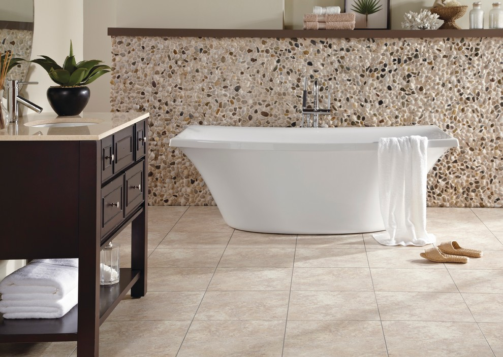 Curved Sectional Bathroom Contemporary with Bathroom Bathroom Flooring Bathroom Flooring Ideas Light Bathroom Flooring Luxury Floors Luxury
