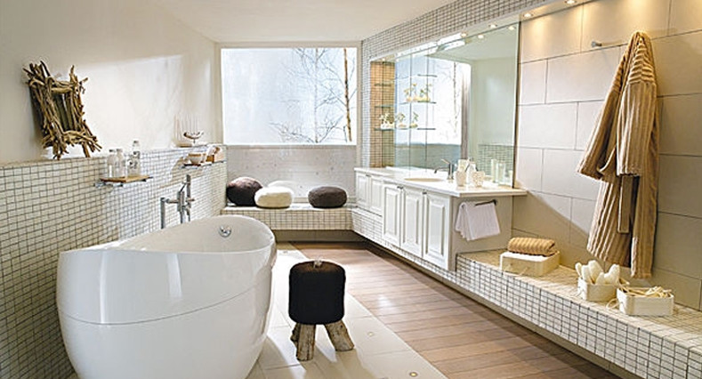 Dalyn Rugs Bathroom Contemporary with None