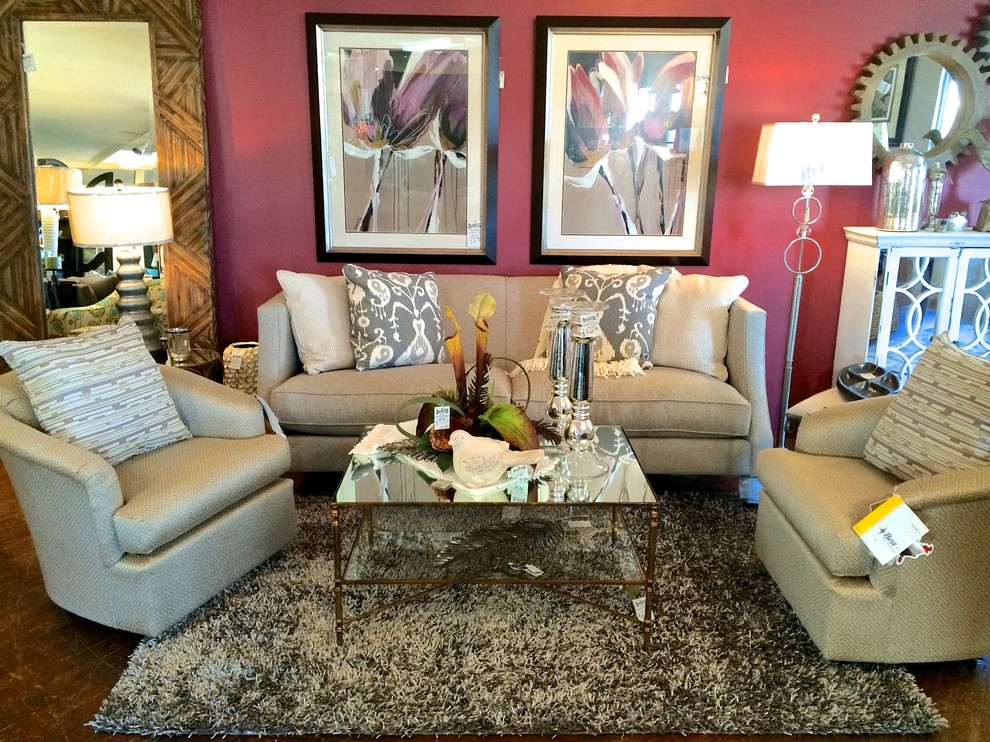 Dalyn Rugs Living Room Transitional with Art Design Floor Lamps Floor Mirror Ikat Pillows Interiors Living Space Marsala