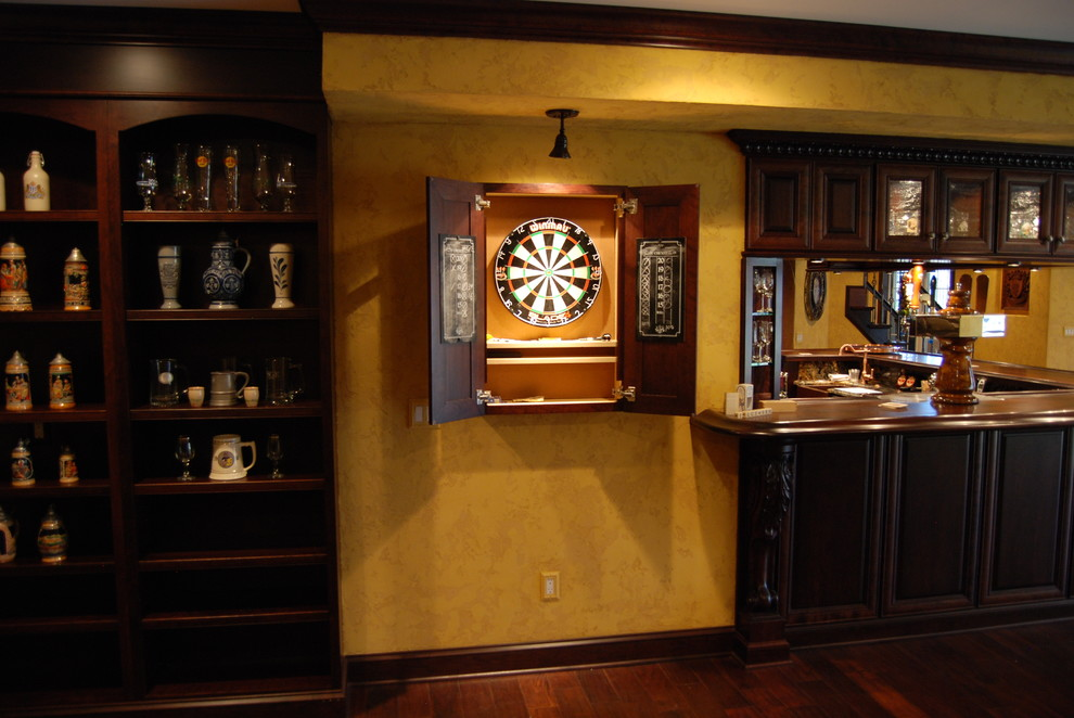 Dart Board Cabinet Basement Rustic with Art Bar Bar Area Bar Pictures Beer Tap Brick Ceiling Fans Cool