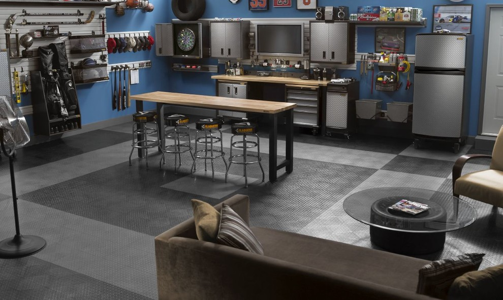 Dart Board Cabinet Garage and Shed Contemporary with Bar Bar Stool Blue Garage Gear Wall Gladiator Garage Man Cave Garage