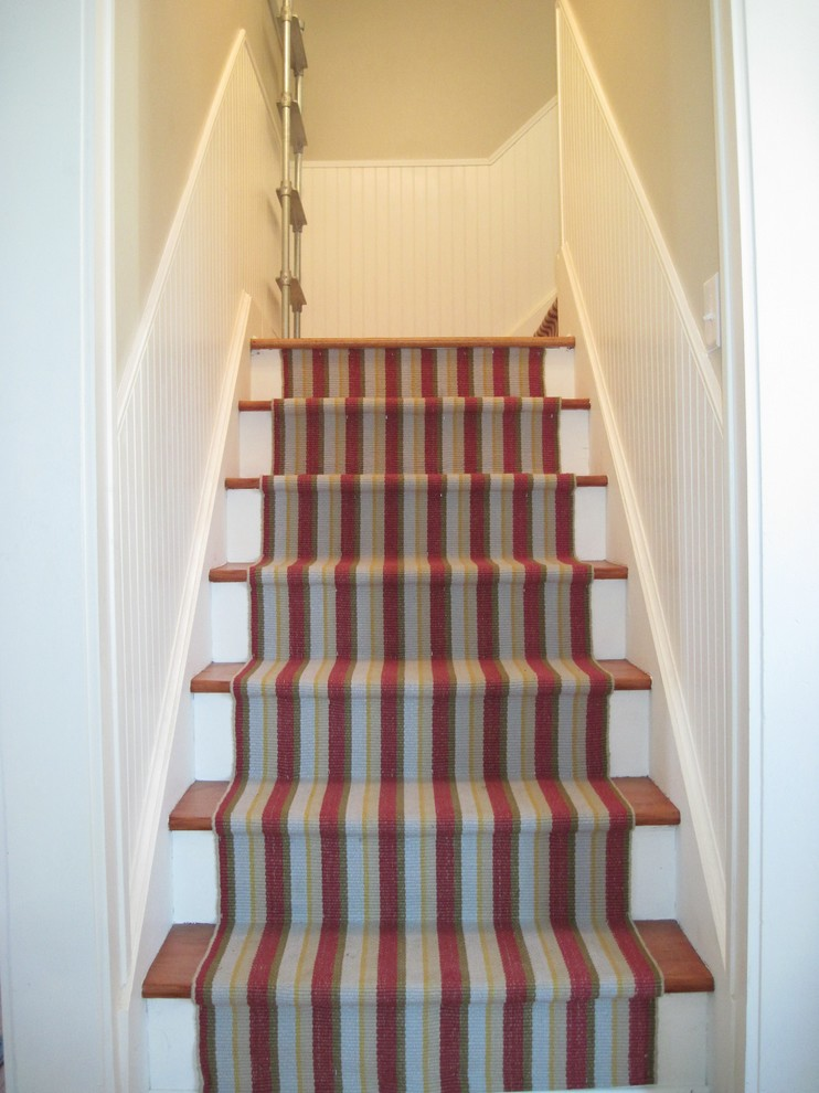 Dash and Albert Runner Staircase Traditional with Colorful Cottage Dash and Albert Runner Stairs Stripe Striped Stripes