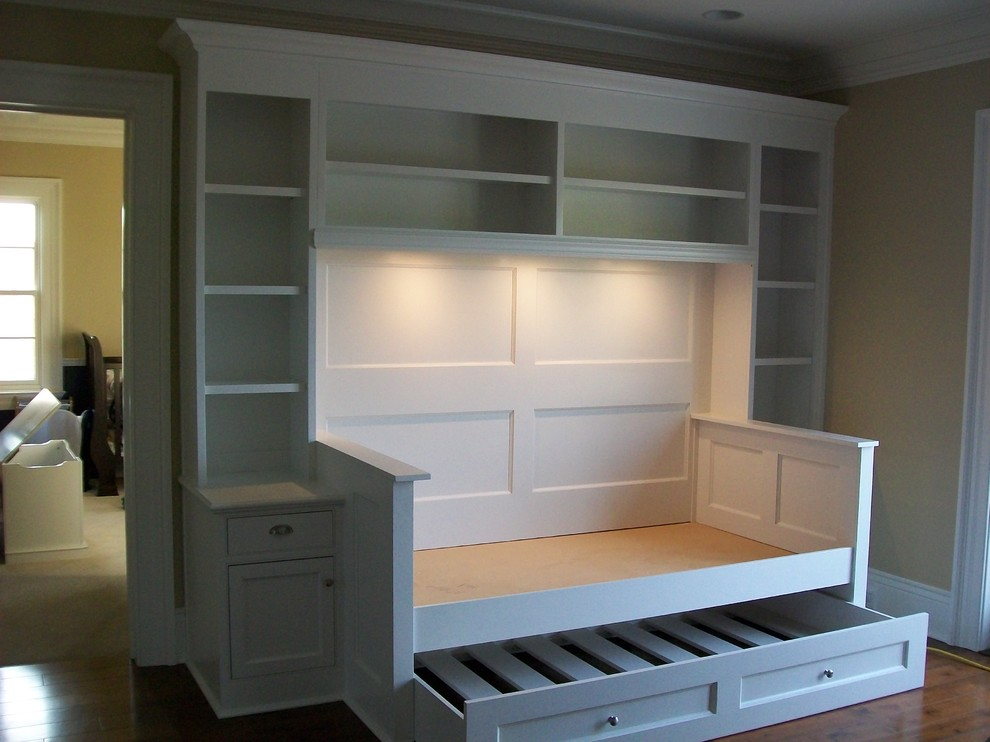 day bed with trundle Spaces Traditional with bookcases built ins built-ins day bed trundle bed