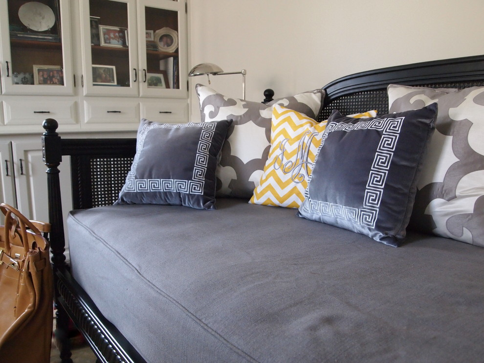 Daybed Covers Home Office Traditional with Built Ins Chevron Daybed Greek Key Grey Yellow
