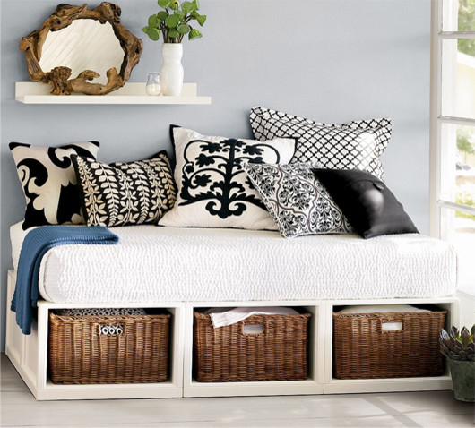 Daybed with Storage Bedroom Contemporary with None