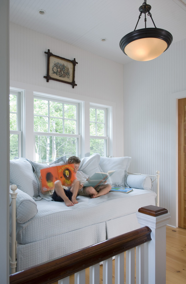 daybeds with trundle Kids Traditional with cottage living dark wood railing daybed guest bed kids maine cottage painted