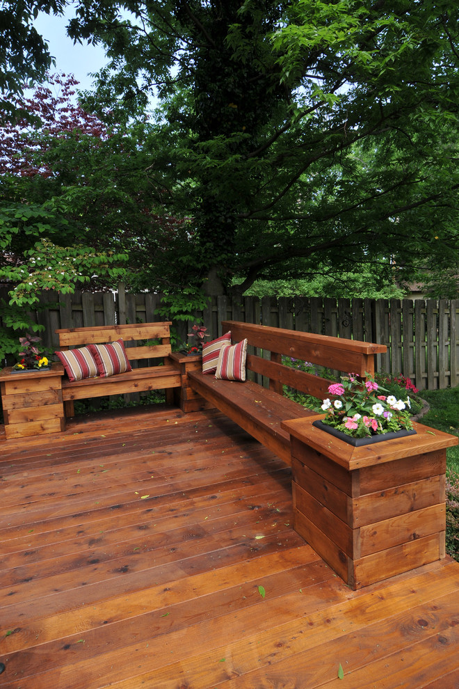 Deck Planters Deck Traditional with Built in Bench Built in Planter Container Plants Deck Potted Plants Wood Bench