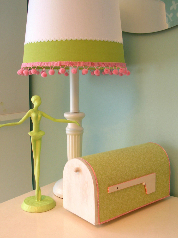 Decorative Mailboxes Kids Traditional with Diy End Table Green Green Wall Lampshade Mailbox Pink Side Table Table