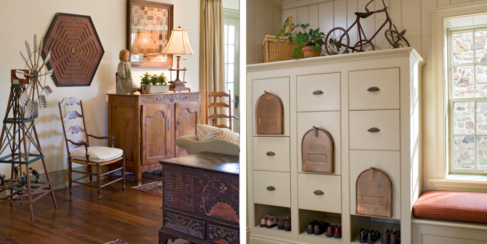 Decorative Mailboxes Living Room Farmhouse with None