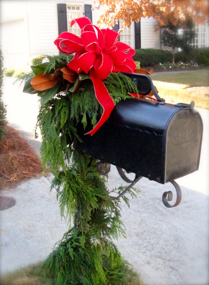 decorative mailboxes Spaces Traditional with christmas decor christmas decorating christmas decorating services atlanta