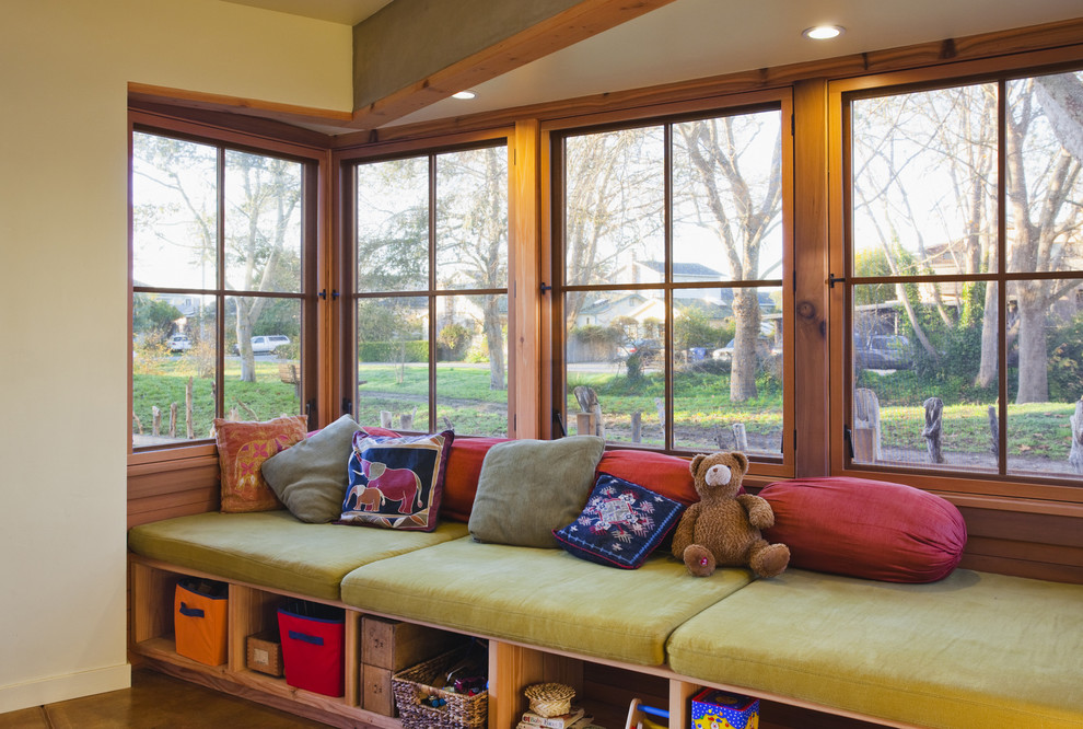 Deep Seating Patio Furniture Hall Contemporary with Arkin Tilt Architects Bay Window Built in Furniture Ceiling Lighting Decorative Pillows