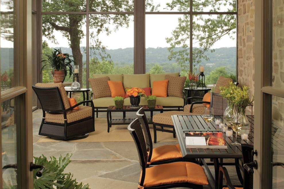 deep seating patio furniture Porch Modern with Aire Collection Aluminum Patio Furniture life's best moments furnished N-dura resin outdoor
