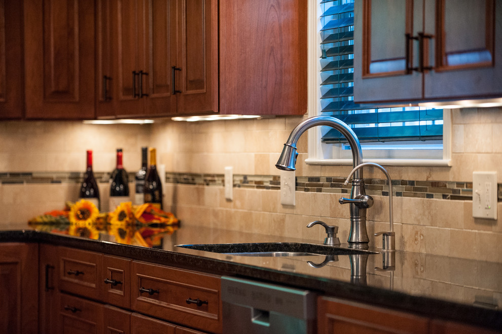 Delta Cassidy Kitchen Traditional with Cherry Delta Cassidy Faucet Dura Supreme Franke Sink Henna Montego Uba Tuba