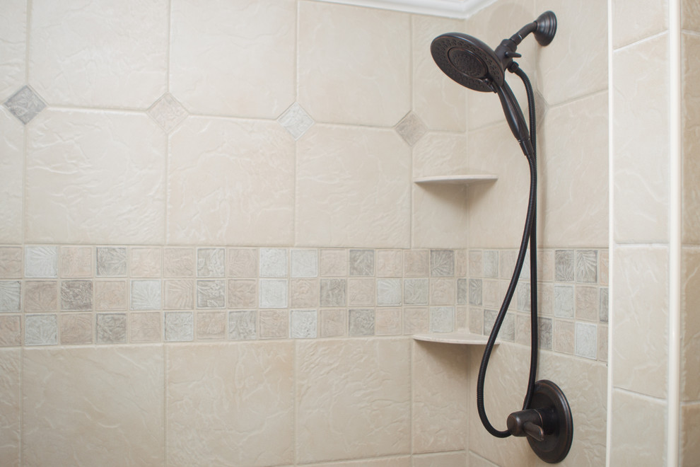 Delta In2ition Spaces Contemporary with Alsons Bathroom Remodel Delta In2ition Oil Rubbed Bronze Shower Tile