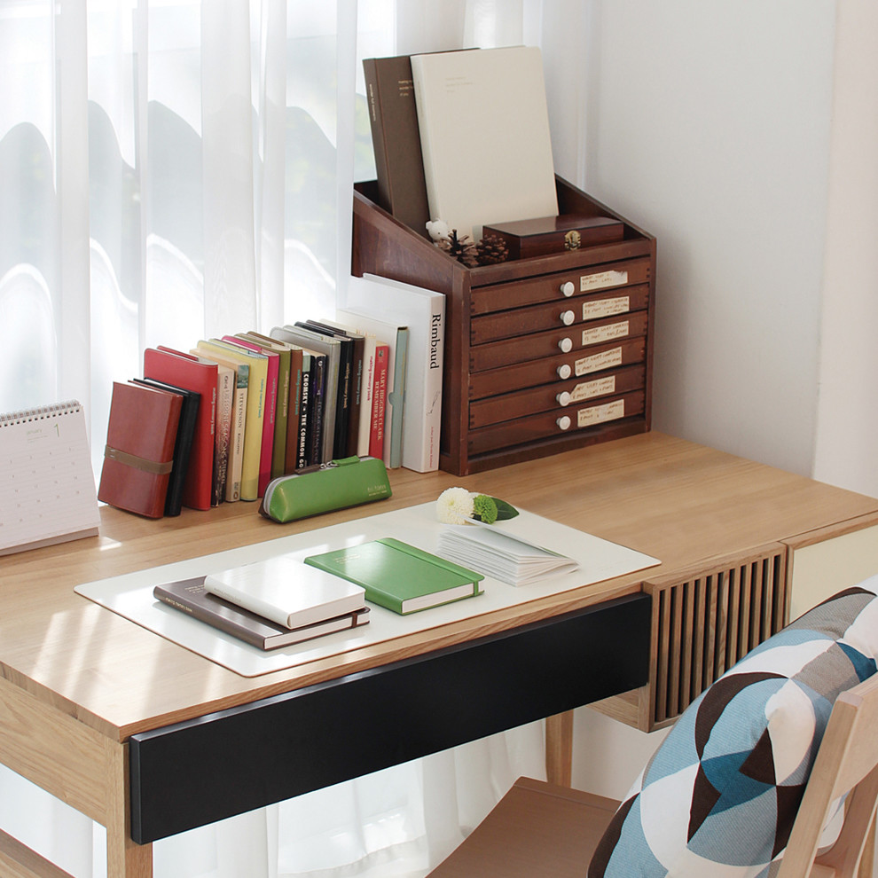 Desk Protector Spaces Modern With Accessories Lamps Desktop Organizer Home Office Furniture S