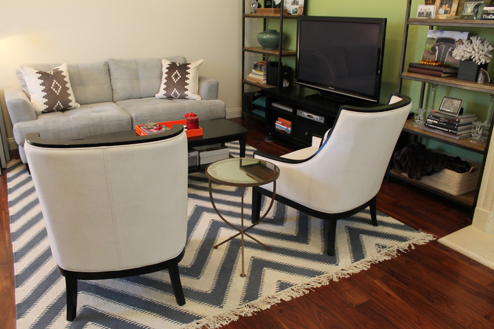 Dhurrie Rug Living Room Transitional with None