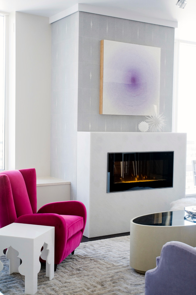 dimplex electric fireplace Living Room Contemporary with condo condominium Eche Martinez englander englander building company highrise luxury san francisco
