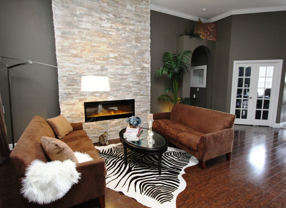 Dimplex Fireplace Living Room Contemporary with 12 Ceilings 12 Fireplace 5 14 Wood Baseboards Abstract Art Blazer Lamp1