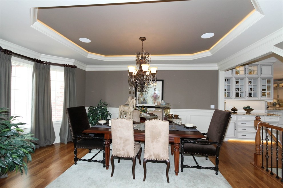 Dining Room Table Centerpieces Dining Room Transitional with Area Rug Ashwood Park Brakur Cabinets Can Lights Ceiling Design Chandelier Coffered