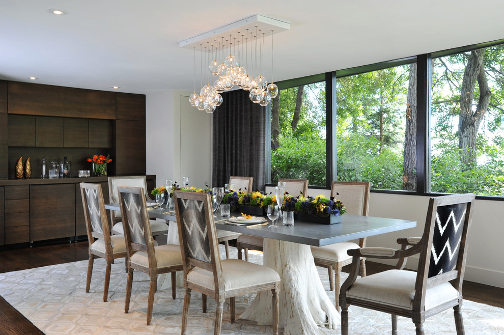 Dining Table Bases Dining Room Contemporary with Area Rug Blown Glass Pendant Built in Bar Built in Cabinets Built In