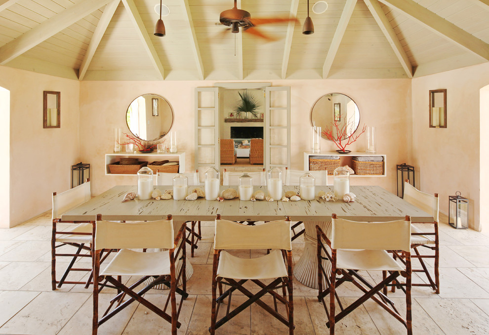 Directors Chair Covers Dining Room Traditional with Basket Storage Beach Home Beams Candles Cane Furniture Canvas Chairs Ceiling Fan