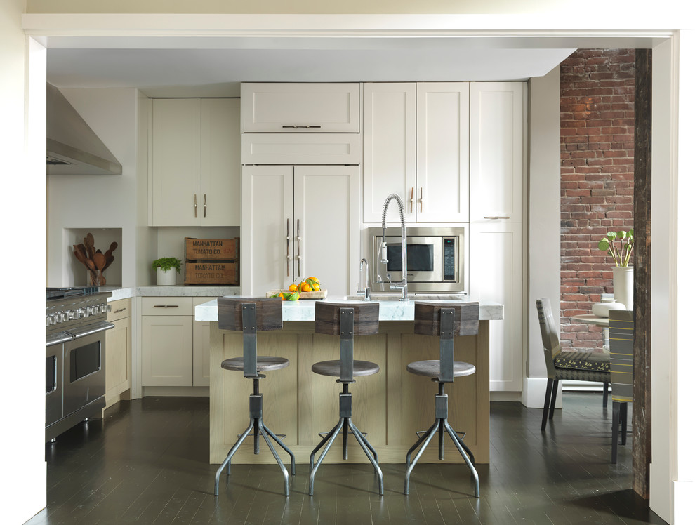 Discount Bar Stools Kitchen Modern with Brick Wall Brick Wall Wolf Range Exposed Brick Industrial Stool Island Kitchen