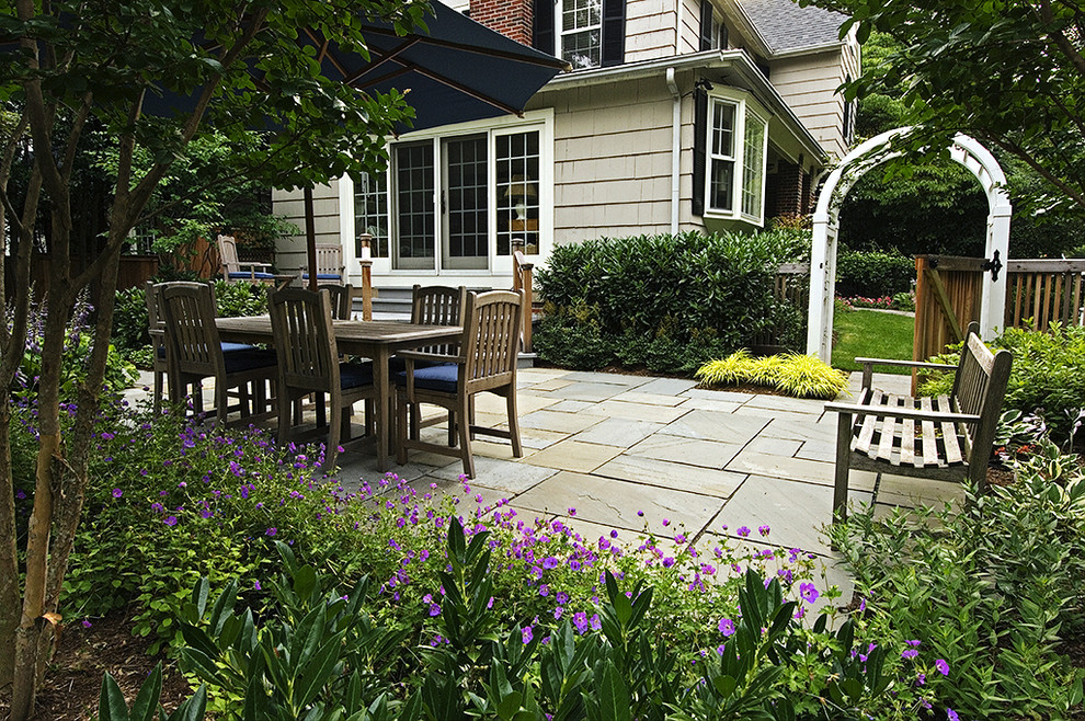 discounted patio furniture Landscape Traditional with arbor bay window entry gate garden bench outdoor cushions outdoor dining Patio