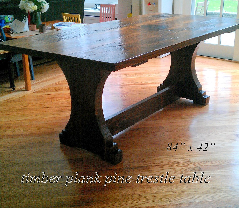 Distressed Wood Dining Table Dining Room Traditional with Chatham Custom Furniture Chatham Furniture Custom Dining Room Table Custom Made Custom Made Dining