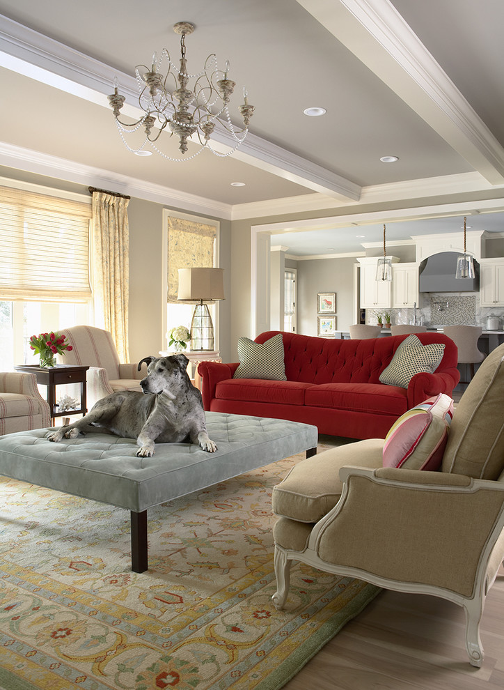 Dog Couches Living Room Traditional with Accessories Area Rug Beam Beams Benjamin Moore Blue Bold Ceiling Chandelier Clean