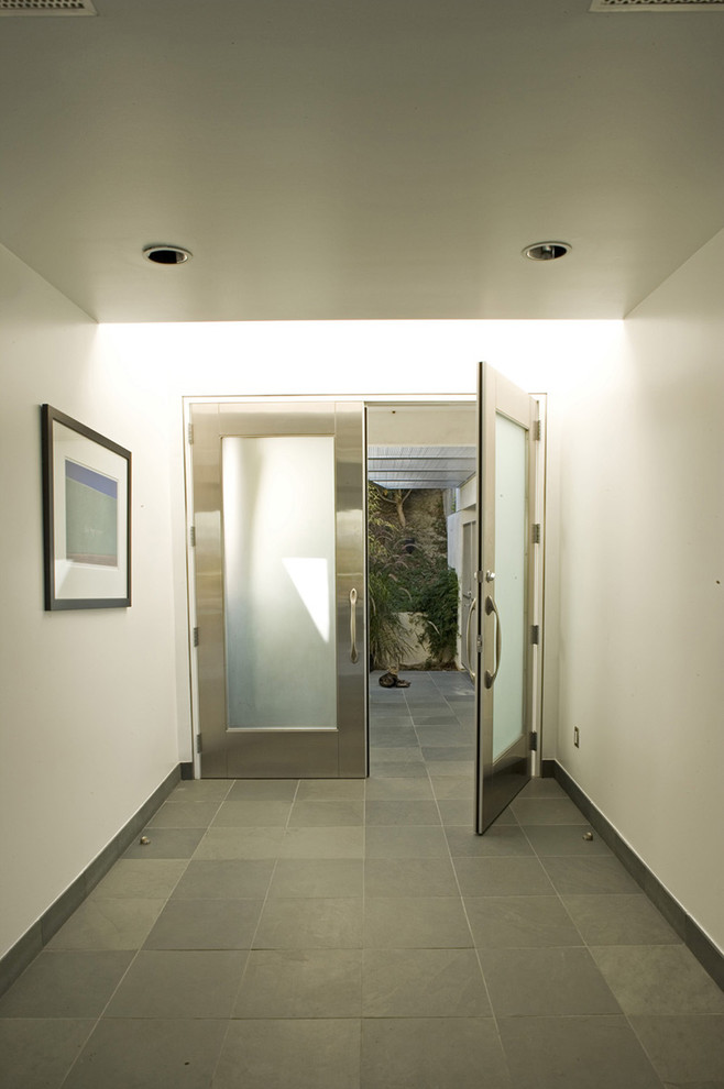 door stopper Entry Modern with covered entry double entry doors entry front door frosted glass slate Stainless