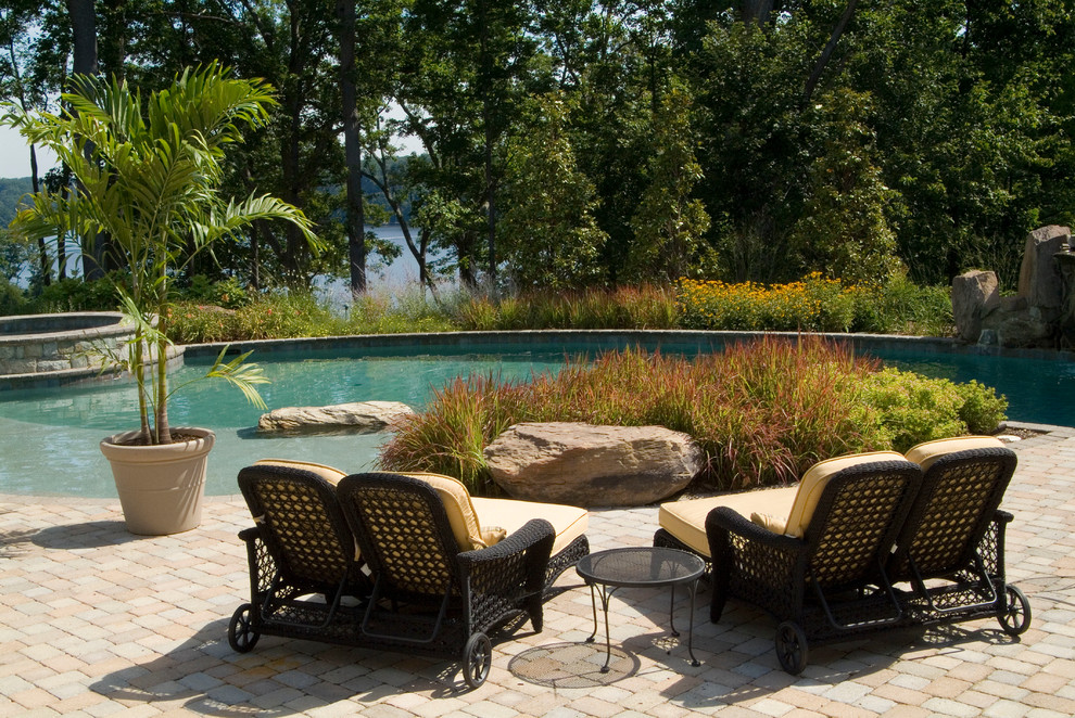 double chaise lounge Patio Traditional with boulders brick patio bushes double chaise lounge outdoor chaise lounge outdoor potted