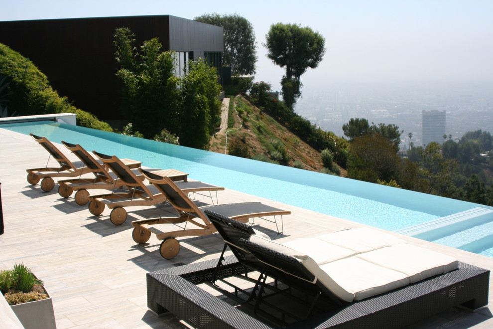 Double Chaise Lounge Pool Contemporary with Double Chaise Lounge Infinity Pool Outdoor Chaise Lounge Pool Potted Plants