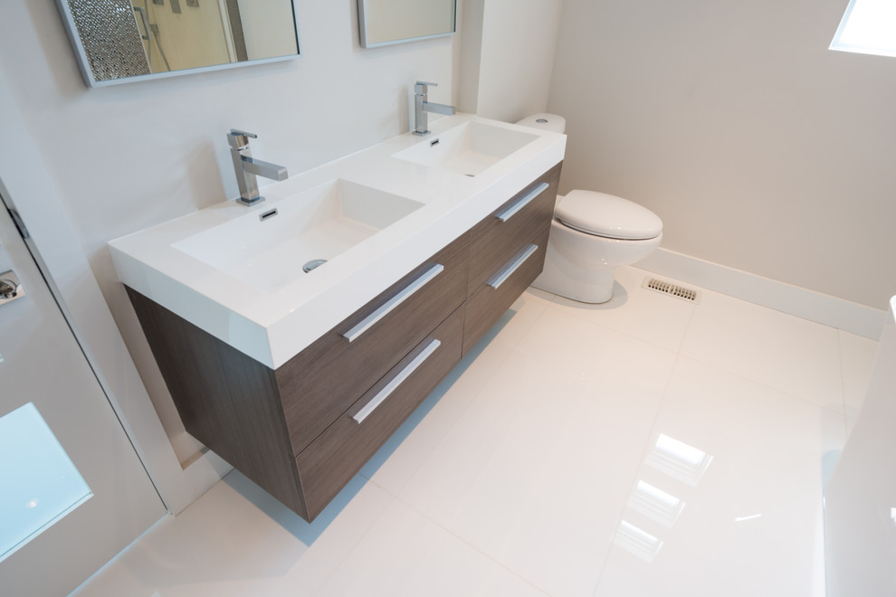 Double Sink Bathroom Vanities Bathroom Contemporary with 54 38 909 Goodwin Rd Port Credit on Alnoite Design Double Basin