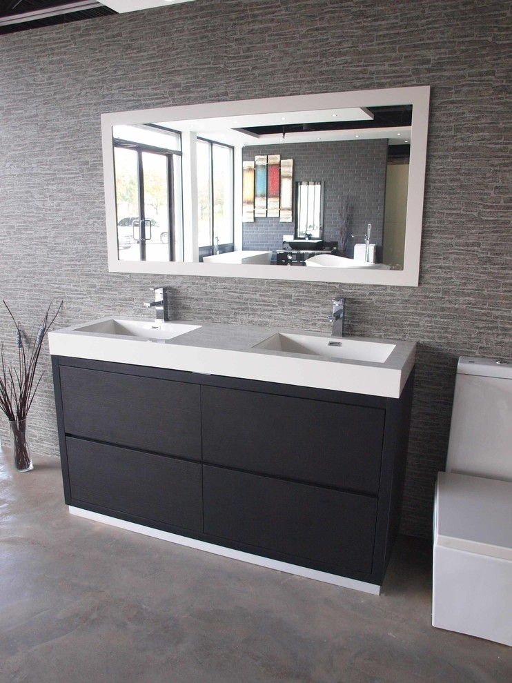 Double Sink Bathroom Vanity Bathroom Contemporary with 60 Black Floor Mount Modern Bathroom Vanity 60 Double Sink Bathroom Vanity