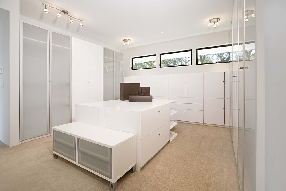 Drafting Table Ikea Closet Contemporary with Armoire Beige Carpet Built Ins Clerestory Dressing Room Frosted Glass Door Glass