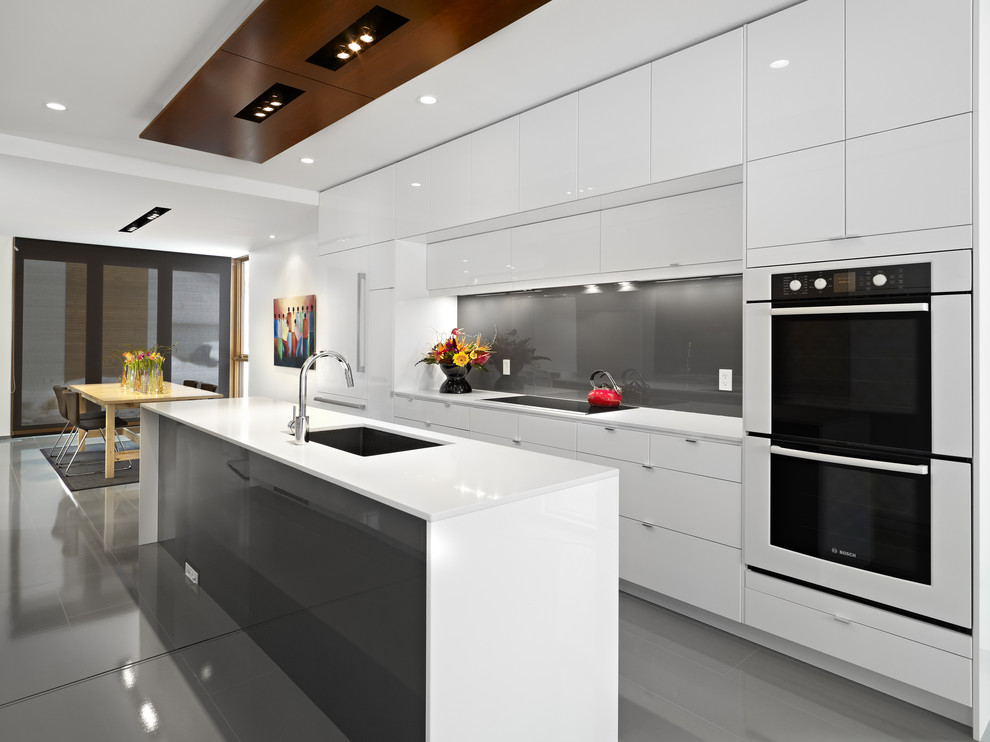 Drafting Table Ikea Kitchen Contemporary with Backsplash Blanco Bosch Caesarstone Quartz Ceiling Lighting Cooktop Glossy Cabinets Grohe Kitchen
