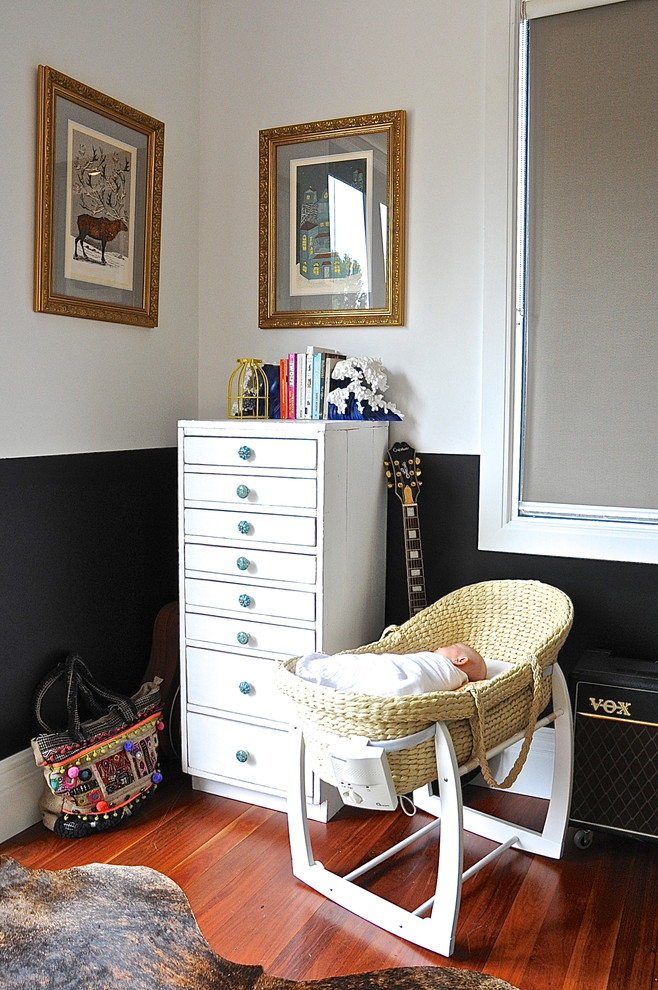 Drawer Handles Kids Eclectic with Baby Bassinet My Houzz Nursery