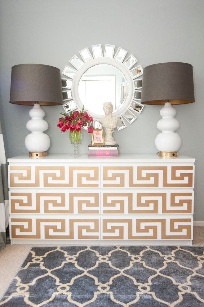 Dressers for Cheap Home Office Eclectic with Gold Accents Gourd Lamps Greek Key Ikea Dresser Sunburst Mirror Z Gallerie
