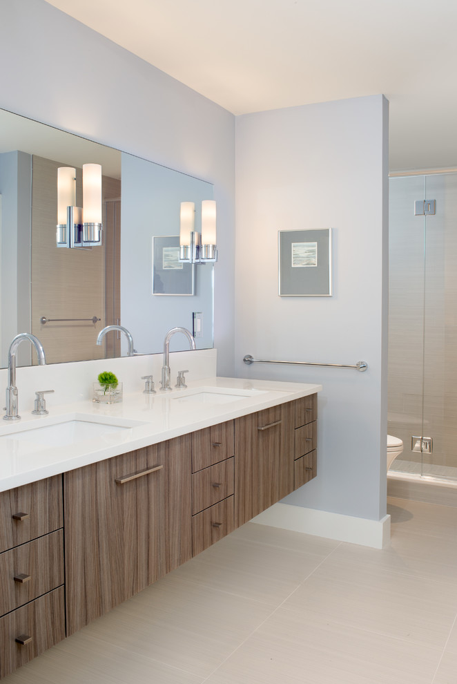 Driftwood Furniture Bathroom Beach with Beach Coastal Double Sinks Driftwood Floating Cabinets Floating Vanity Gray Laminate Vanity