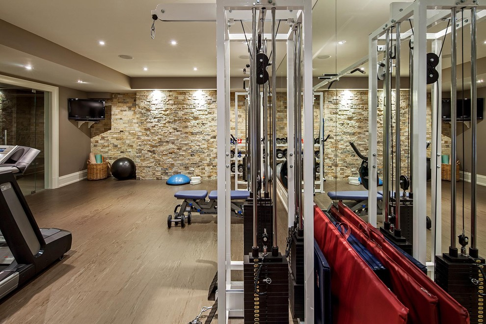 Dumbbells for Sale Home Gym Transitional with Stacked Stone Stone