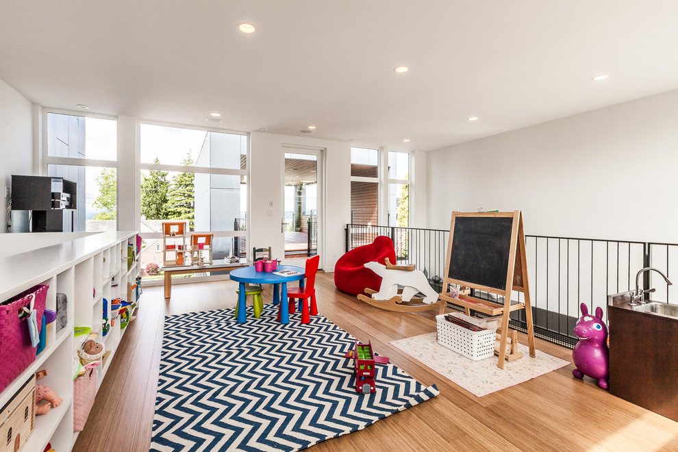 easels for kids Kids Contemporary with area rug bean bag chair bookcase ceiling lighting chalkboard chevron rug easel
