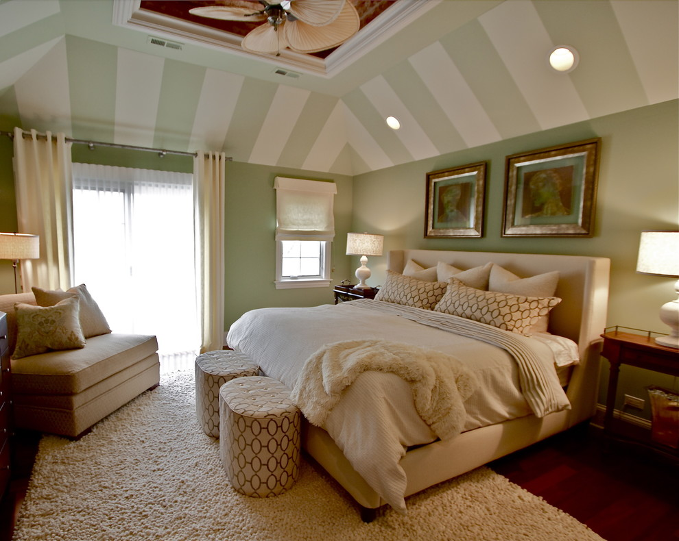 Eastern Accents Bedding Bedroom Transitional with Accent Ceiling Area Rug Artwork Bedside Table Ceiling Fan Ceiling Lighting Ceiling