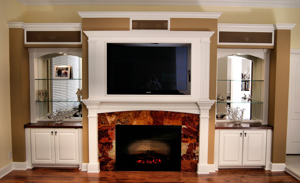 Electric Fireplace Entertainment Center Living Room with Av Consoles Built in Built in Media Center Built in Media Storage