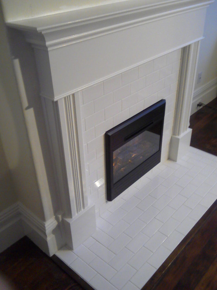 Electric Fireplace Inserts Family Room Traditional with Custom Fireplace Install Custom Fireplace Surround Electric Fireplace Electric Fireplace Insert Tile