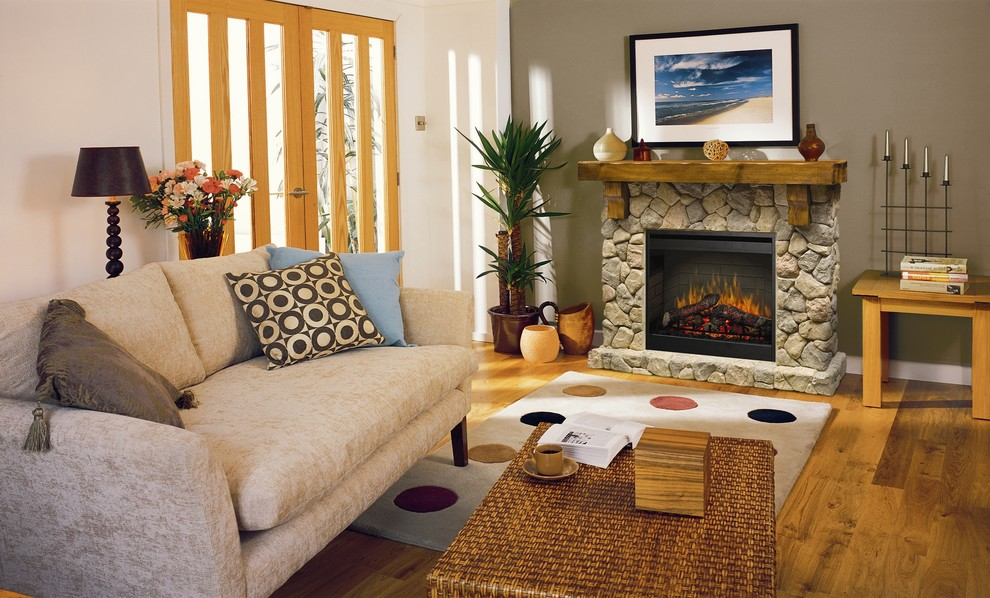 electric fireplace mantels Living Room Traditional with Fireplace living room mantel rustic living room Stone fireplace