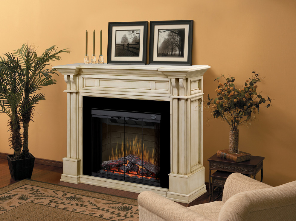 Electric Fireplace Mantels Living Room Traditional with Classic Design Electric Fireplace Fireplace Mantel Stone Fireplace Traditional
