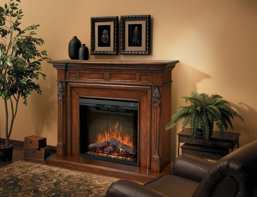 Electric Fireplace Mantels Living Room Traditional with Electric Fireplace Electric Fireplace Mantel Fireplace Mantel Traditional Home Decorating