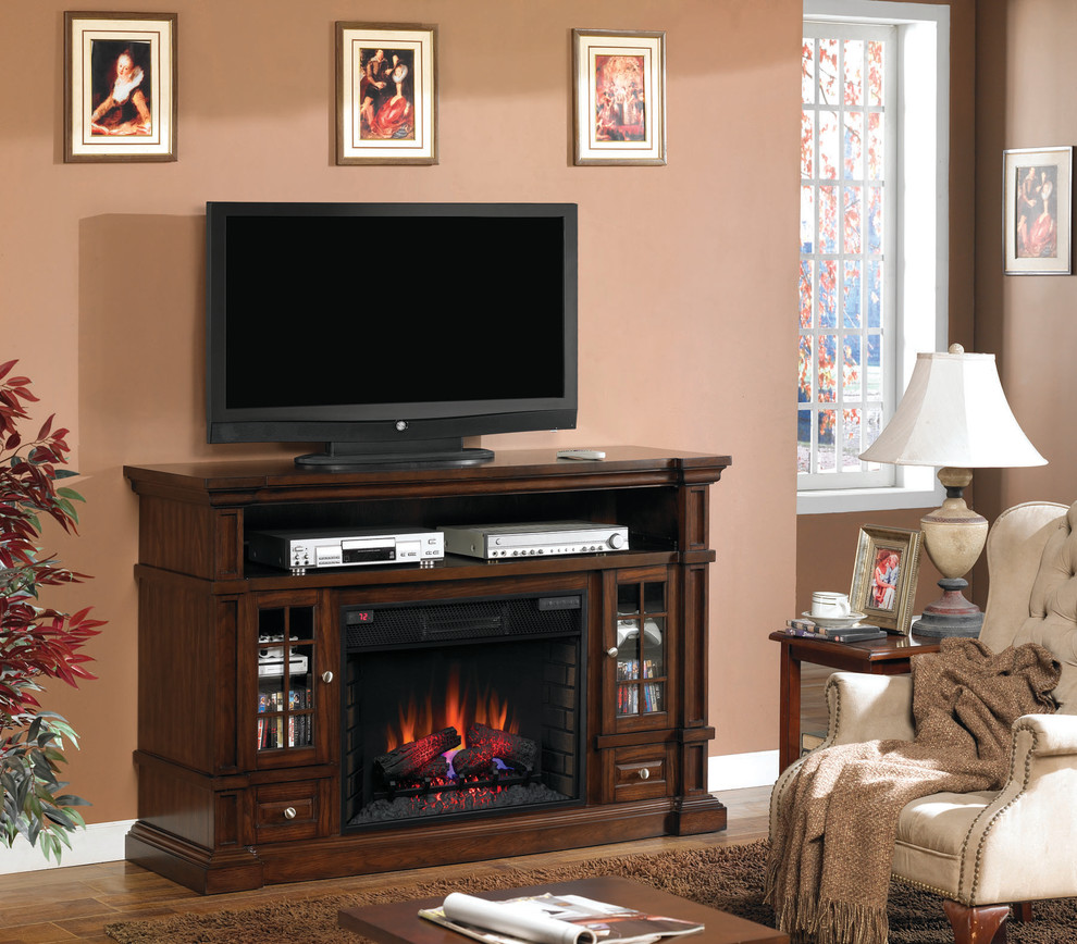 Electric Fireplace Media Console Living Room Traditional with Electric Fireplace Electric Fireplace Media Console Fireplace Home Decor Traditional Home Decorating